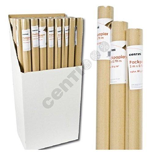 30 Meter Packpapier Natur Papier 10 Rollen a 3,00m x 0,70m