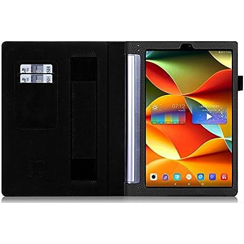 Lenovo yoga Tab 3 Plus 10 Pro caso, KuGi ® Lenovo yoga Tab 3 Plus 10 Pro caso - Alta calidad ultra-delgada del caso de la cubierta elegante para Lenovo yoga Tab 3 Plus 10 Pro Tablet.(Negro)