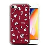 Stuff4 Coque Gel TPU de Coque pour Apple iPhone 8 / Geek Interne/Autocollants Design/Geek Nerdy Joueur Fan Collection