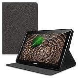 kwmobile Housse Porte-Monnaie en Feutre Samsung Galaxy Tab 2 10.1 P5100/P5110 - Housse Cover Flip Gris foncé...