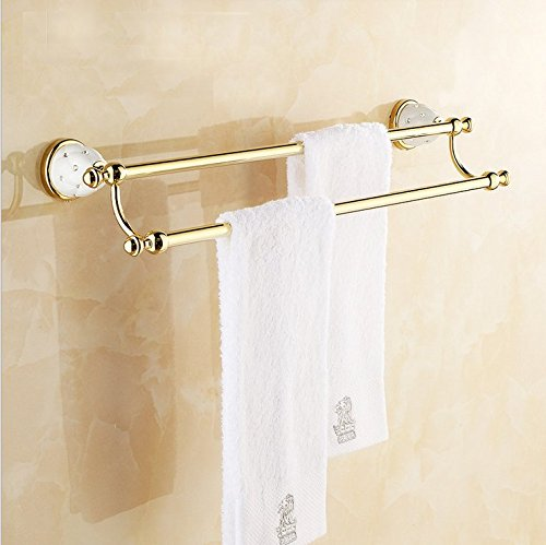 CZOOR European handtuchhalter handtuchhalter antikes Badezimmer Gold-Plated Handtuch Bar Rack Double Hebel
