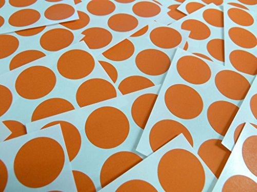 102 etiquetas de, 25 mm diámetro y por contar de papel redondos, de naranja y, lote de pegatinas un color, adhesivo funda auto-adhesiva puntos