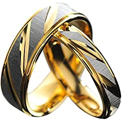 19 Likes Gold Metal Couple Ring For Men & Women