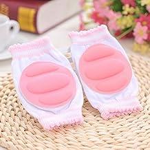 honeysuck infantil ajustable elástica transpirable bebé rodilleras rodilla codo Protector Pad–Rosa