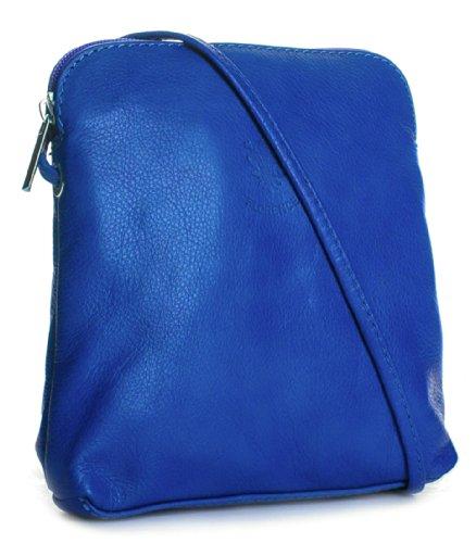 Blau Handbag mini Cross Leder italienischem aus DamenHandtasche weiche Big Royal Body UwdEqqv