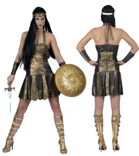 Kostüm römische Kriegerin mit Manschetten und frontino (Römische Gladiator Kostüme)