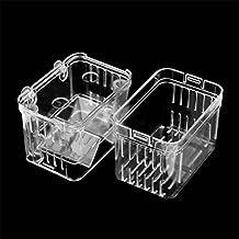 UEETEK Colgante pez criador caja peces cría tanque incubadora aislamiento caja accesorio de acuario
