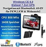 7 Zoll 16GB PKW,LKW,Wohnmobil,GPS,Navigationsgerät,Navigation,Neuste Karten sowie Radarwarner , Erweiterbarer Speicher, Fahrspurassistent, Geschwindigkeitsanzeige,Bluetooth,AV-IN Eingang