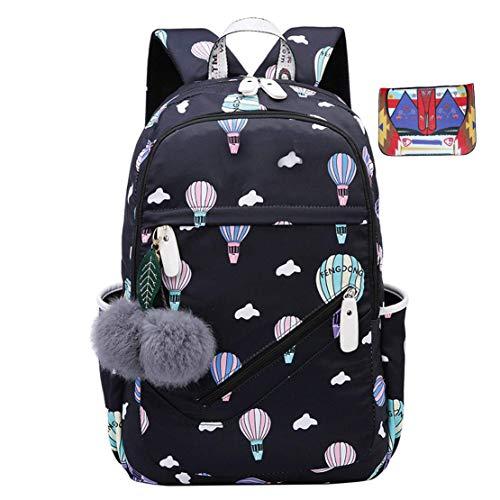 JUND Oxford-gewebe Schulrucksack für Jungen Schulrucksack Druck Rucksack Jugendlichen Schultasche Outdoor Reflektierender Daypack (Blau)