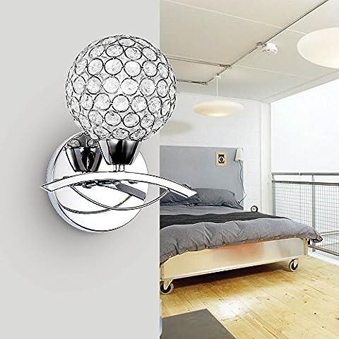 FEI&S Camera da letto luce da parete nichel spazzolato in vetro smerigliato maschera Lampada di cortesia #33