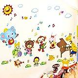 Yirenfeng Corso Di Formazione In Aula Di Animali Fumetto Di Animali Pittura Murale Scuola Materna Camera Da Letto Per Bambini B