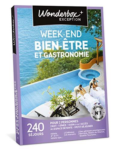Wonderbox - Coffret cadeau couple - WEEK-END BIEN-ÊTRE ET GASTRONOMIE - 240 weekends...