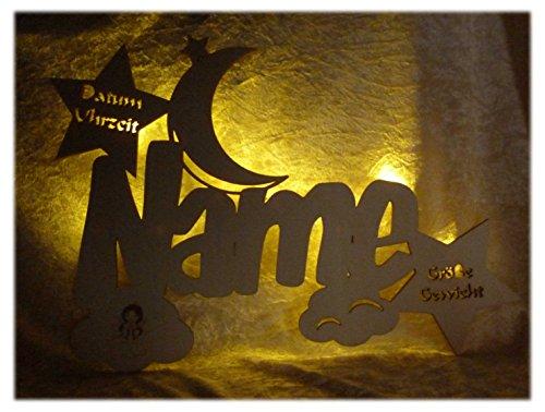 Schlummerlicht24 Geschenke zur Kommunion Holz Wandtattoo Wolken Schutzengel mit Name Datum Gravur für Mädchen und Junge zum Geburtstag personalisiert -