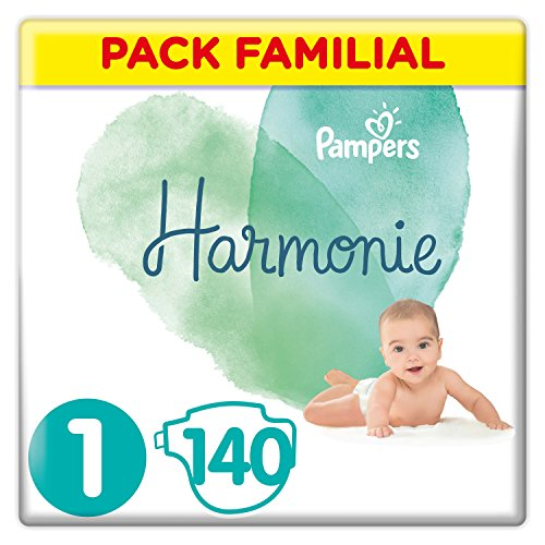 Pampers - Harmonie - Couches Taille 1 (2-5 kg) - Pack Familial (140 couches)
