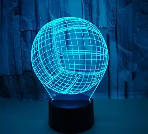 ZJFHL Kreative Volleyball 3d Nachtlampe Kind Spielzeug 3d Leuchten Hersteller Großhandel Led Nachtlicht