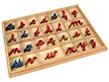 Montessori Cursive Moveable Alphabets with Box by Kid Advance