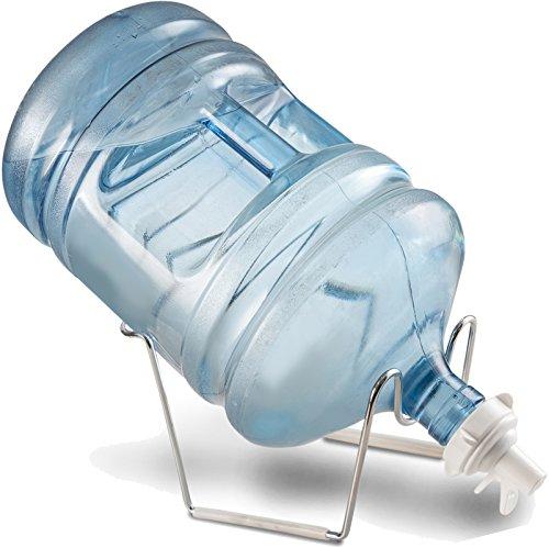 finedine chrom 1-5Gallonen Wasser Krug Ständer und Wasser Spender Ventil für 55mm Crown Top wiederverwendbar Wasser jug| stabiles Metall vergoldet