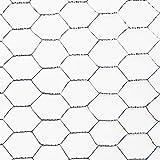 hadra Sechseck-Geflecht/Drahtzaun / Drahtgeflecht - VERZINKT - Maschenweite und Größen wählbar - MW: 25mm | B: 500mm | L: 25m