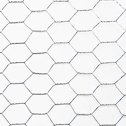hadra Sechseck-Geflecht / Drahtzaun / Drahtgeflecht - VERZINKT - Maschenweite und Größen wählbar - MW: 13mm | B: 1000mm | L: 10m