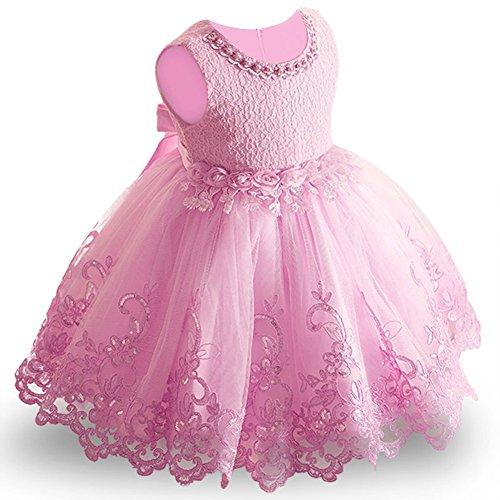 4acd57118 LZH Niña Vestido Flor Princesa Fiesta Cumpleaños Boda Elegantes ...