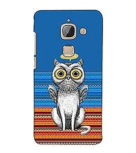 Fuson Designer Back Case Cover for LeTv Le Max :: LeEco Le Max (Owl and cat combo)