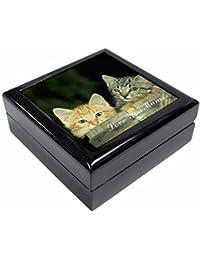 Kittens in Beer Barrel 'Love You Mum' Keepsake/Jewellery Box Christmas Gift