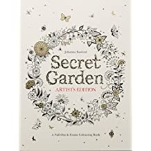 Secret Garden Artist's Edition: A Pull-Out & Frame Colouring Book