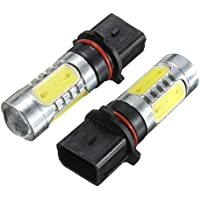 lampada auto - SODIAL(R) 2x Lampada Auto 12W HID P13W COB Proiettore LED Lampadina Fendinebbia Luce