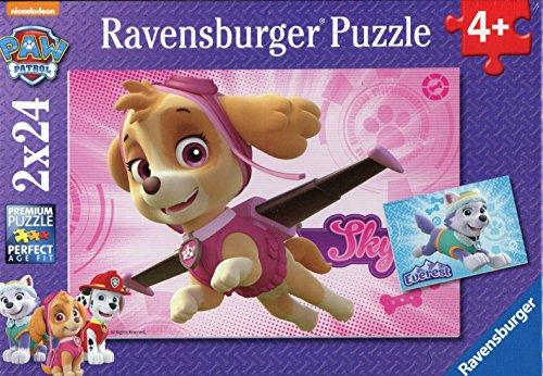 Paw Patrol Puzzles cachorros fascinantes, 2 x 24 piezas (Ravensburger 91522)