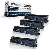 Print-Klex 4x kompatible Tonerkartuschen für HP Color LaserJet 2550 Color LaserJet 2550 L Color LaserJet 2550 LN Q3960A Q3961A Q3962A Q3963A 122A Black Cyan Magenta Yellow Sparset KCMY