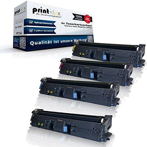 Color Laserjet Print Cartridge (Print-Klex 4x kompatible Tonerkartuschen für HP Color LaserJet 2550 Color LaserJet 2550 L Color LaserJet 2550 LN Q3960A Q3961A Q3962A Q3963A 122A Black Cyan Magenta Yellow Sparset KCMY)