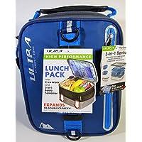 Preisvergleich für Erweiterbar Lunch Pack Ultra Arctic Zone Bento Container 2Kühlakkus BLAU SCHWARZ
