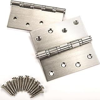 10 Stück SO-TECH® Türbänder Edelstahlscharniere Aufschraubbänder Edelstahl rostfrei kugelgelagert mit Edelstahlschrauben / Tragkraft 60 kg / Materialstärke 2,5 mm / 100 x 100 mm