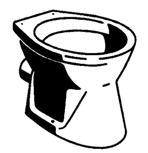 Schläfer Stand-WC-Tiefspü ler Gustavsberg Saval wei