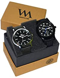 WM Stylish Quartz Analog Watches Leather Multicolor Combo For Men And Boys WMC-003-WMD-007aeons
