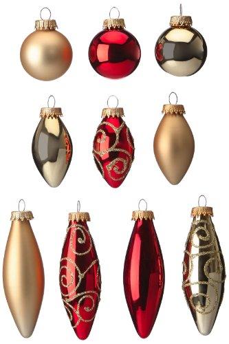 Brauns-Heitmann 86688 - Juego de 21 adornos para árbol de Navidad (cristal,...