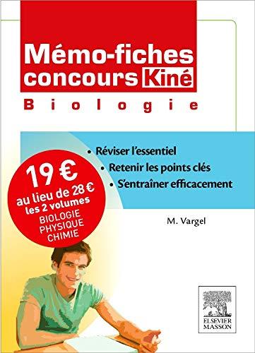 Mémo-fiches Concours Kiné. Pack 2 volumes. Biologie - Physique/Chimie