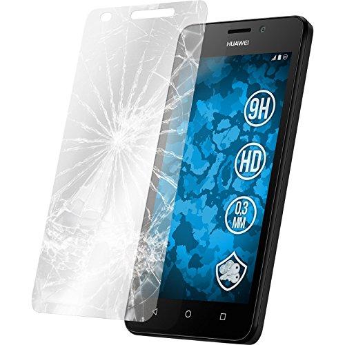 PhoneNatic 2 x Glas-Folie klar kompatibel mit Huawei Y635 - Panzerglas für Y635