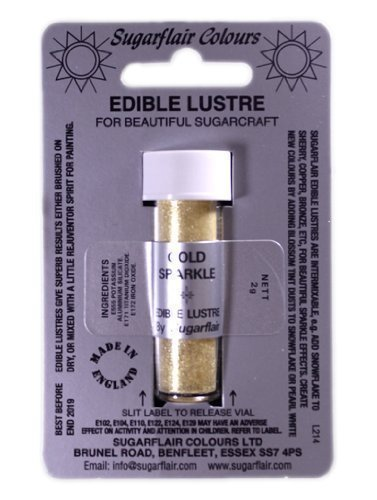 Sugarflair-GOLD-SPARKLE-Edible-Lustre-Dust-Powder-Cake-decorating-shimmer