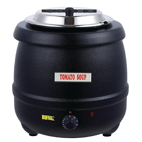 Buffalo Black Soup Kettle 10Ltr/360X345mm Stainless Steel Electric Jug