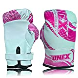 kids Pink/White Boxing Gloves Rex leather sizes 2 oz