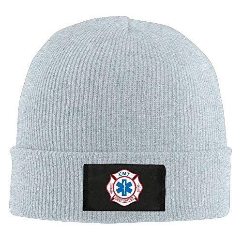 Doormat-bag EMT Firefighter Maltese Cross - Adult Knit Hat Beanies Cap Winter Warm Hat -