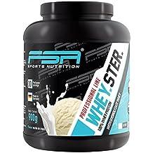 Whey Protein Eiweißpulver der deutschen Profisport Marke FSA Nutrition® | Low Carb Proteinpulver mit BCAA | Für Muskelaufbau, Abnehmen, Fitness, Sport und Bodybuilding | 900g | Vanilla Ice Cream
