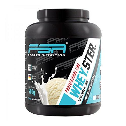 Vanilla Ice Cream-protein-pulver (Whey Protein Eiweißpulver der deutschen Profisport Marke FSA Nutrition® | Low Carb Proteinpulver mit BCAA | Für Muskelaufbau, Abnehmen, Fitness, Sport und Bodybuilding | 900g | Vanilla Ice Cream)