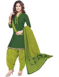 Baalar Women's Cotton Unstitched Dress Material (510_Green_Free Size By Onkar Trading)