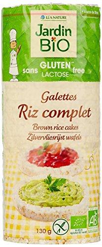 Jardin Bio Galettes de Riz Complet sans Gluten 130 g - Lot de 6