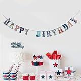 Watooma Segeln Anker Cupcake Toppers Kuchendeko Tortendekoration Muffin Aufsatz Dekoration fuer Kuchen geeignet für Geburtstagsparty, Hochzeit und Babyparty (banner)