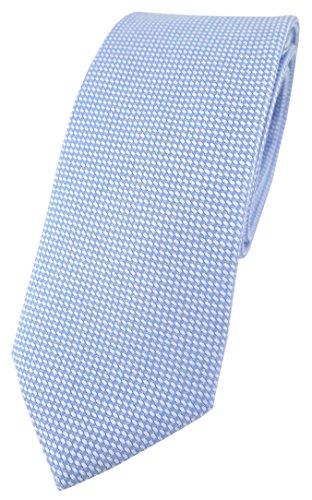 TigerTie Corbata - para hombre azul claro, blanco Talla única