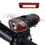 LED Wiederaufladbare LED Stirnlampe Fahrradbeleutung,CREE XPG LED 3W Fahrradlampe Set mit 2 USB-Kabel,LED Frontlicht & Rücklicht,Superhelle 300Lumen,3 Licht-Modi, Wasserdichte Fahrradlicht für Radfahren,Camping