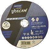 25NORTON Vulcan Disques à tronçonner 230x 2,0x 22,23mm Métal/Inox T41droit